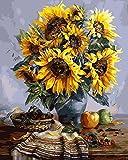 Dipingere con i numeri ,DIY Pittura ad olio,Digitale Pittura ad olio Tela animazione Kits (Fiore 153)