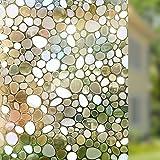 Rabbitgoo adherencia estática película de ventana tintado no adhesivo decorativo de cristal de privacidad ventana Pebble Patrón 44,5cm x 200cm