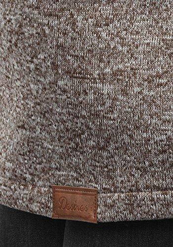 DESIRES Thora Damen Lange Fleecejacke Sweatjacke Jacke Mit Kapuze Und Daumenlöcher, Größe:S, Farbe:Coffee Bean (5973) - 5