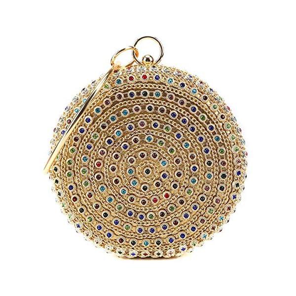 61RQe7CuKsL. SS600  - HARPIMER Mujer Monedero de embrague de bolso de noche de cristal de diamantes de imitación multicolor para boda y fiesta
