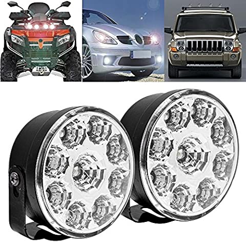 S&D 2 x Universal Super Bright Round Vehicle LED Bulbs