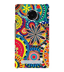 Animation Pattern little and Big Circle 3D Hard Polycarbonate Designer Back Case Cover for YU Yuphoria :: YU Yuphoria YU5010