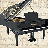 Paperproducts Design 1252466Concerto pour piano Boisson Serviettes en papier, Noir