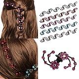SLYlive 6 Pcs Pinces à Cheveux pour Femme, Prune Fleur Strass Épingle à Cheveux Griffes Pinces pour Fille Élégant Cheveux Outil