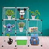 Funtell Modular Mesh Storage Unit Cube Modular Box Pet Cage for Indoor or Garden White