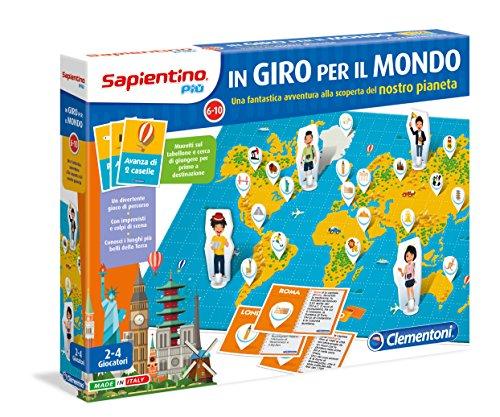 Clementoni 11348 - Gioco di percorso in Giro per il Mondo