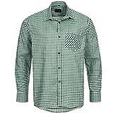 Bongossi-Trade Trachtenhemd für Trachten Lederhosen Freizeit Hemd grün-kariert Gr. S-XXXL