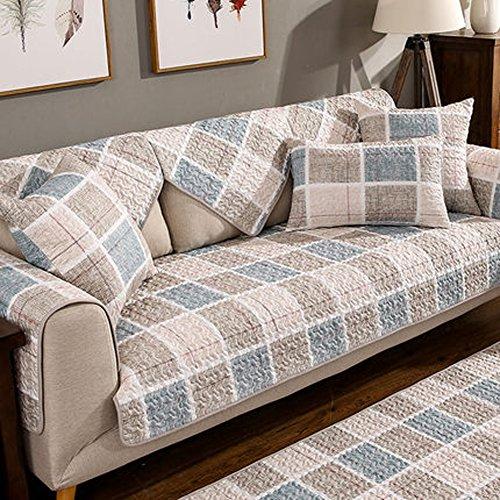 Sofa-Überwürfe Sofa Bezug Baumwolle,Sektionaltore Couch Anti-Rutsch Flecken Resistent Multi-größensofa Slipcover Protector-Wohnzimmer,1 stück-A 90x210cm(35x83inch)