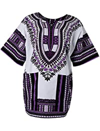 bb13b315f141 Sharplace Damen Kurzarm Sommer Traditionelle Afrikanische Kleider Afrika  Style Minikleid Dashiki Cocktailkleid