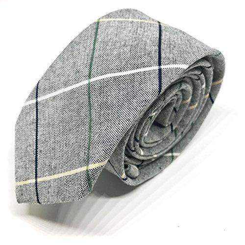 GOOD.designs Cravatta per uomo realizzata a mano con filato di cotone, uomo-cravatta (Grau/Blau)