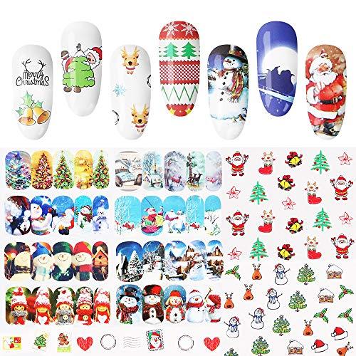 Christmas -Pegatina uñas BBsmile 48PCS DIY Navidad