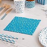 Premium Weddings Papierservietten Stars blau 16 Stück - Hochzeitsservietten Hochzeit Servietten Kindergeburtstag Sterne blau 33 x 33 cm