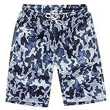 QinMM Herren Shorts Badehose Quick Dry Strand Surfen Laufen Schwimmen Wasserhosen Sommer Shorts Hosen Täglich Casual Wadenlangen Hosen M-4XL (3XL, Weiß)