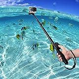 COOSA Wasserdichter Selfie-Stick mit 36-110cm L�nge inkl. Stativ und Bluetooth Fernbedienung f�r Sport Action Kameras z.B. Gopro Hero / Canon / Nikon / Sony sowie Handys, mit Zubeh�r-Set (schwarz) Bild