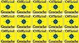 2,5x 2,5cm offizieller Geocaching Micro Cache Aufkleber von StickerTalk.