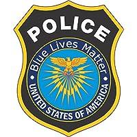 4in × 5IN interno adesivo blu vite Matter distintivo della polizia del vinile - America Del Sigillo