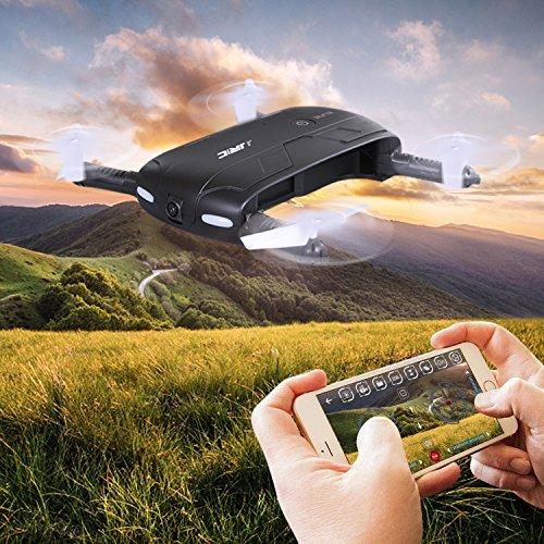 SGILE Faltbare RC Selfie Drone mit Wifi FPV 0.3MP Kamera, Ferngesteuert Quadrocopter, Hexacopter mit Fernbedienung Geschenk
