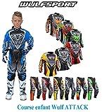 Moto costume enfant WULF ENFANTS ATTACK COSTUME nouveau 2017 hors-route motocross enduro ATV MX sport junior kit pantalon chemise (rouge, 5 - 7 années)