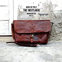 """TWL Leather Messenger Bag ″ """"Gentlemen's"""" a Mano Borsa a tracolla Primo Fiore Leather Postino Bags Travel Job's The Westlands Made in Italy Pelle Cuoio"""