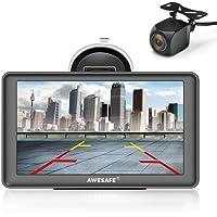 AWESAFE Bluetooth Navigation mit Rückfahrkamera für Auto LKW 7 Zoll Navigationsgeräte, 2021 Europa Karten Lebenslang…