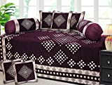 #7: IMPECCABLE HOME Diwan Set(1 Single Bedsheet, 2 Bolster Covers, 5 Cushion Covers)