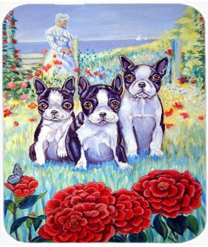 Caroline's Treasures Mauspad/Untersetzer, Boston Terrier 3 in einer Reihe, 7005 MP (Einer Reihe 3in)