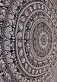 Mango Gifts Wandteppich, indisches Elefanten-Mandala, Hippie-Tapisserie, Wandbehang, indisches schwarz-weißes Tapisserie, Bohemian Dorm Decor Mandala Tapisserie, Pyshedlische Tapisserie, Hippie Mandala Tapisserie, Tagesdecke, Wanddekoration, Queen Size, 202,2 x 228,6 cm, Textil, Schwarz , Queen