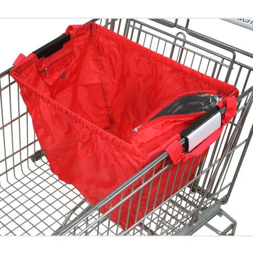 achilles®, Easy-Cooler Standard, AD102STre, Faltbare Einkaufswagentasche mit integriertem Kühlfach, rot, 33 x 39 x 54 cm
