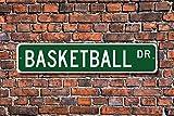 Aersing Placa Decorativa para Puerta de Baloncesto, Diseño de Jugador de Baloncesto