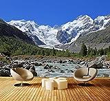 Premium Vliestapete Morteratsch Gletscher Alpen Fototapete DA00000236 XL 350 x 245 cm - 7 Teile - Vlies Vliestapete XXL
