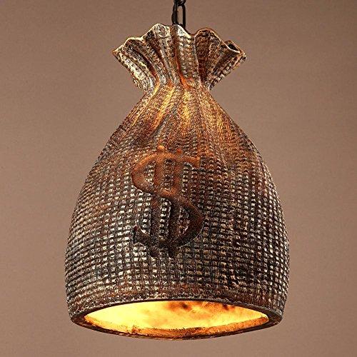 Amerikanische Retro Industrielle Pendelleuchten Loft Kreative Handtasche Kronleuchter Persönlichkeit Harz Lampen für Restaurant Café Bar und Bekleidungsgeschäft (Taupe Stoff Handtaschen)