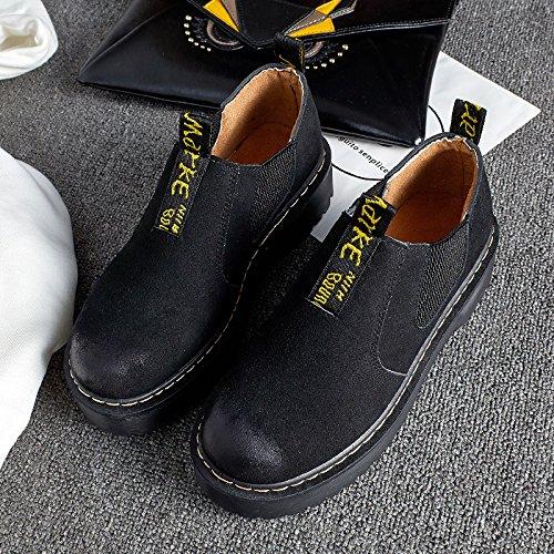 Vintage Martin l'automne et l'hiver chaussures Chaussures pour femmes fashion rose sauvage une pédale aux pieds nus