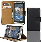 EximMobile Brieftasche Handytasche Flip Case Etui für HTC One SV Schwarz