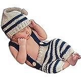 Matissa Disfraz de Ganchillo para bebé, para fotografía, Sombreros (4)