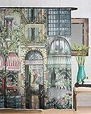 Beddingleer Champs Elysees Duschvorhang 180x200 cm Verdicken Anti-Schimmel Textilien Polyester Wasserabweisend  mit 12 Vorhangringe
