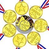 YoungRich 36pcs Plástico Medallas de Oro Ganador Olímpico Medallas para Niños Fiesta de Competencia Deporte Partido Recompensa Juegos de Juguete Decoración DIY Regalos 3.8 cm / 1.5 Pulgadas