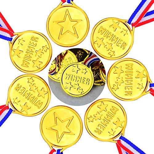 YoungRich 36pcs Plástico Medallas de Oro Ganador Olímpico Medallas para Niños Fiesta...