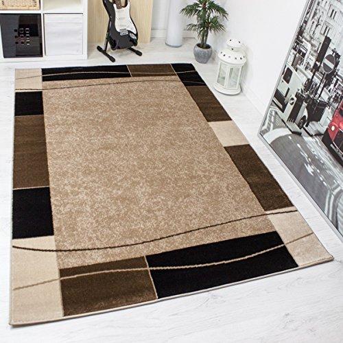 teppich-kariert-retro-muster-meliert-in-braun-schlafzimmer-wohnzimmer-ko-tex-zertifiziert-mae160x230