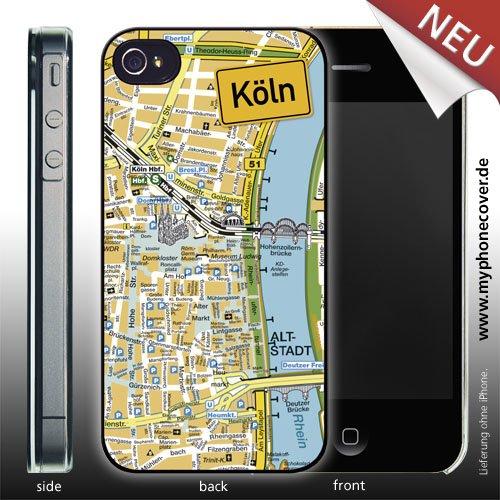 iPhone 4/4S Cover Stadtplan Köln