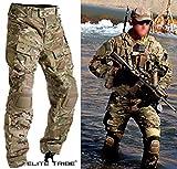 Homme Tenues de Combat Pantalon Militaire Paintball Gen3 Tactique Pantalon et Genouillères Multicam MC (L (34))