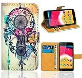 Wiko Rainbow Jam Handy Tasche, FoneExpert Wallet Case Flip Cover Hüllen Etui Ledertasche Lederhülle Premium Schutzhülle für Wiko Rainbow Jam