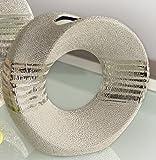GILDE Moderne Vase Keramikvase Tischvase Dekovase mit Loch aus der champagner Keramik Serie, 23 cm