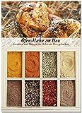 8 verschiedene Gewürze für Ofen-Huhn im Heu – Gewürze für leckeres Landgericht – Ideal als Hähnchen-Gewürz-Geschenk – Perfektes Landhaus-Küche Ofen-Gericht – von Feuer & Glas