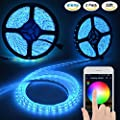 LED Strip Lights, Witmoving Waterproof WiFi LED Strips Works With Alexa Remote Voice Control Color Changing, 32.8 ft 600 LED 5050 Flexible Strip Lighting Kit, Support for Android and IOS Smartphone by Witmoving