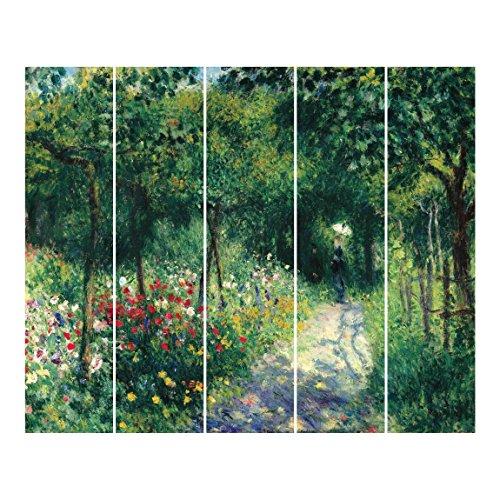 Bilderwelten Schiebegardinen Auguste Renoir - Frauen im Garten - Ohne Aufhängung 5X 250x60cm