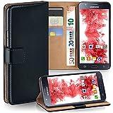 moex Samsung Galaxy J5 (2015) | Hülle Schwarz mit Karten-Fach 360° Book Klapp-Hülle Handytasche Kunst-Leder Handyhülle für Samsung Galaxy J5 2015 Case Flip Cover Schutzhülle Tasche