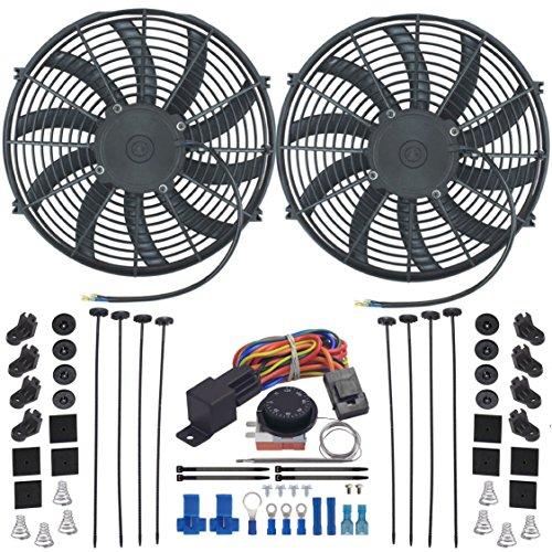 American V Dual 14 Zoll Elektro-Heizstrahler Fan-s Einstellbar Thermostat Kontrollschalter Kit (Cfm-motor 90)