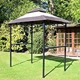 Airwave EX19062 Steel Frame BBQ Bar and Party Gazebo Shelter - Cream