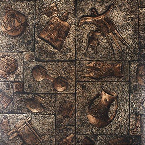 Weihnachten/Halloween/decoration Retro Nachahmung Bronze alten ägyptischen Carving Wallpaper Kammer entkommen Coffee Shop Weingut Kultur PVC Tapeten Tapeten, (Halloween Ägyptische)