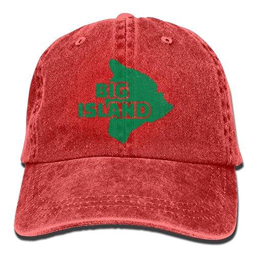 Walnut Cake Hüte,Kappen Mützen Denim Baseball Cap Big Island Hawaii Map Men Women Golf Hats Polo Style Low Profile -